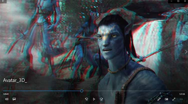 просмотр 3D видео в формате анаглиф
