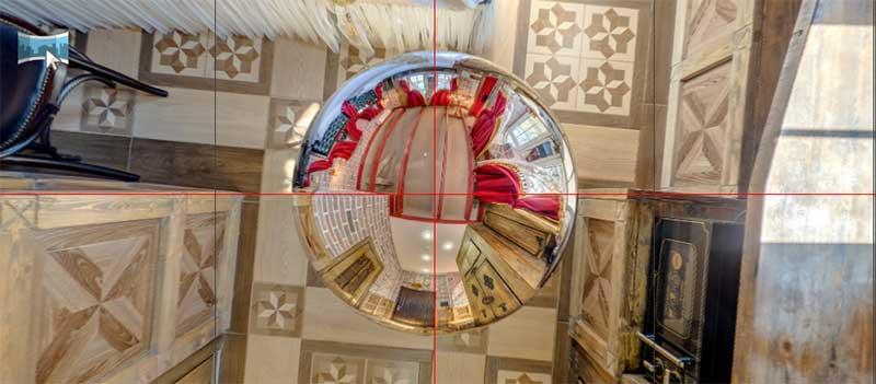 Сферическая проекция в надире в Pano2VR