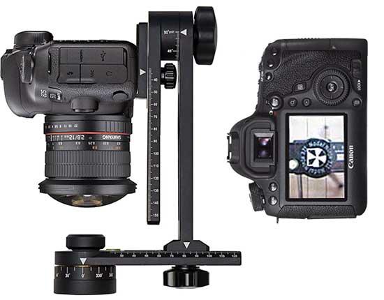 Выравнивание фотоаппарата по оси вращения