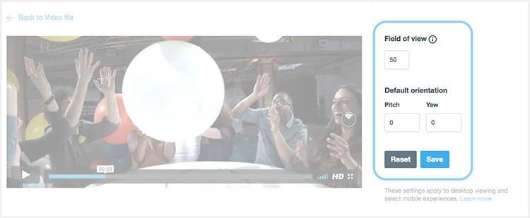 Настройка видео 360 на Vimeo