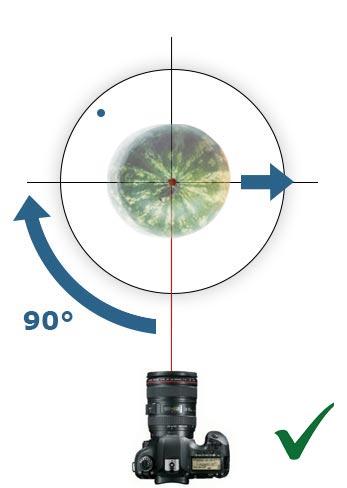 центрирование предмета на поворотном столе 360