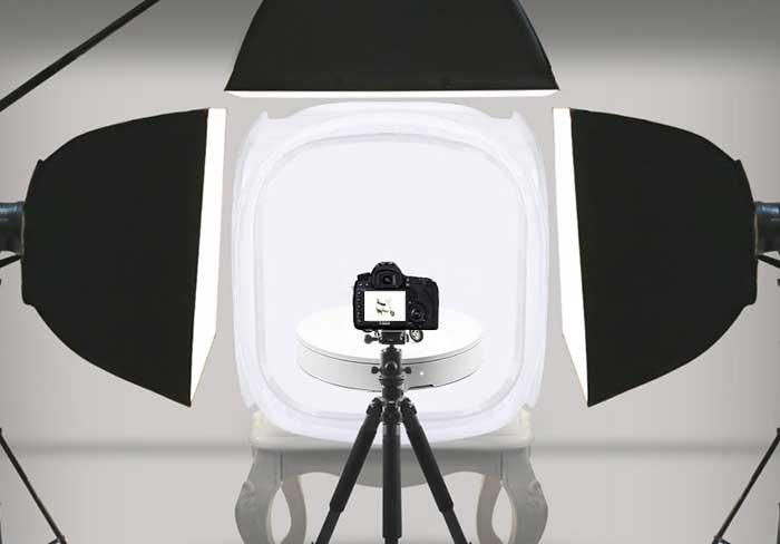 Установка оборудования для 3D съемки 360